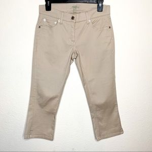 Burberry Khaki Cropped Jeans Size 2